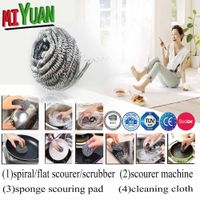 New design coated wire,stainless steel scrubber/scourer/cleaning ball ,scouring pad thumbnail image
