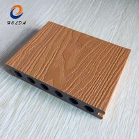 Wood Grain Texture Brown Weather Resistant Composite Decking Deck WPC Decking
