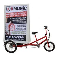 electric advertising tricycle/ electric ad bike for promotion