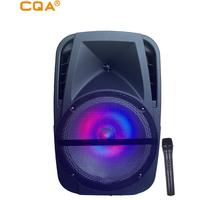 CQA cheap good price 12 inch trolley speaker boxa portabila for karaoke party