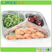 Aluminum Foil Takeaway Container 3 Compartment thumbnail image