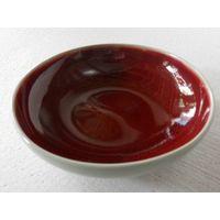 crackled red glazed pottery plate (RYGZ09)