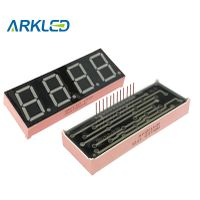 """0.80"""" Inch 4 Digital LED Common Anode Yellow LED Dispalys"""