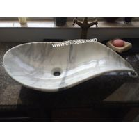 Statuario Marble Sink,Sonw White Marble Bath Vessel Sink