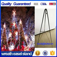 54'' Green Metal Wire Wreath Folding Easel Stand for Christams Tree