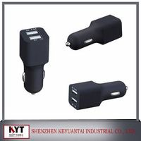 dual USB port DC5V 4.5A car charger with CE certified