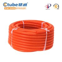 PVC Plastic Flexible Protecting Cables Conduit