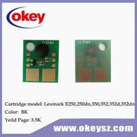 for Lexmark E250 toner reset chip