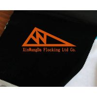 Black Flocking Materials, long-pile Flocked Cotton Materials, LFN50-3