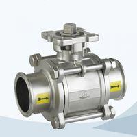 Stainless steel manual sanitary ball valve