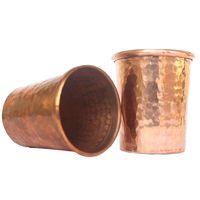 De Kulture Works™ Handmade Copper Shot Glass Set of 2-50 ml for Water| Vodka| Cocktails
