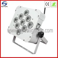 9*12W RGBWA 5in1 Wireless DMX Battery Power LED Flat PAR Light