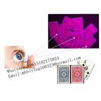 Kem plastic marked playing cards/uv contact lenses/uv ink/poker trick/magic trick/perspective glass