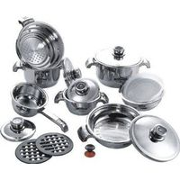 zepter HARRAZ reality visioneer royalty line 16pcs wide edge stainless steel cookware set