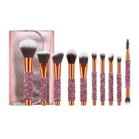 Professional Makeup Brushes 10PCS Diamonds Makeup Brush Set Kit with Cosmetic Private Label and OEM thumbnail image