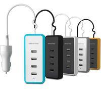 smart USB car charger 5 port