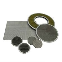 Stainless Steel Sintered Filter Disc, Round Sintered Filter Plate thumbnail image
