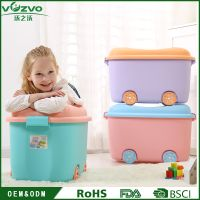 Children's Bedroom Plastic Toy Box Sundries Storage Box With Wheels and Lid