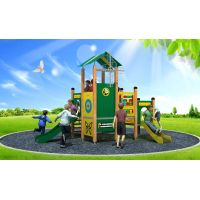WD-BC206 Newly Design Pe Series Outdoor Playground Equipment, Double Slide thumbnail image