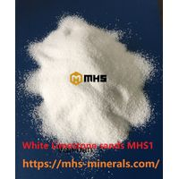 White Limestone Sands Calcium Carbonate Granule variety sizes from 0.2mm - 3 mm - MHS3 thumbnail image