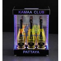 Three Bottle Bottle Cabinet with Infinity MirrorLED Champagne Cabinet Display thumbnail image