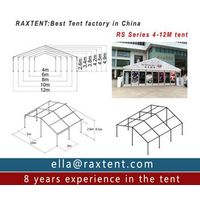 20m x 50m advertising tent with roof lining and glass window thumbnail image
