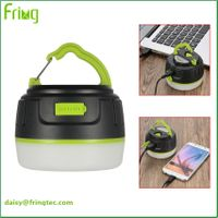 Super magnet on top led camping lantern power bank 5200mAh for tents