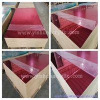 High reflective Gold red Acrylic Mirror sheet , acrylic sheet