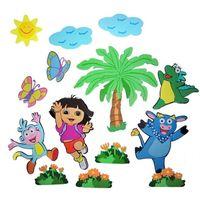 Hot Sale EVA 14pcs Wall Stickers Cartoon style