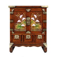 Korean Antique Style Bedside Table Furniture thumbnail image
