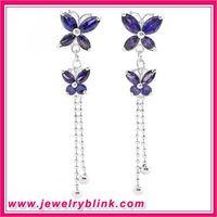 Purple Butterfly Earring 11059 thumbnail image