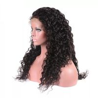 Brazilian Human Hair Curly Full Lace Front Wig With Baby Hair Water Wave Lace Wig Glueless