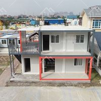 Low Cost modular homes china Units Removable House With Steel Shipping Container Frame thumbnail image