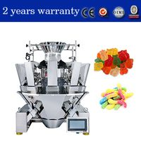 10 hopper MCU multihead weigher for candy ,chip ,chocolate