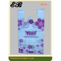 HDPE 100% Virgin Material T-shirt Bags Plastic Vest Bags