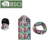 100% Polyester printed sports cool dry fit breathable Seamless Multifunctional Custom Bandana thumbnail image