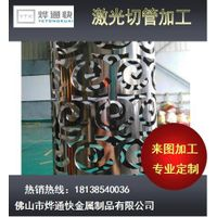 Laser Cut Pierced Steel Sheet Metal Tube/Pipe By foshan yetongkuai thumbnail image