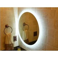 MGONZ fashion circle wall bathroom mirror led lighting anti-fog mirror