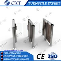 Subway security gate with heavy duty crowd control coin collecting turnstile gate