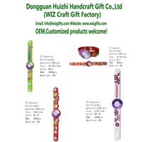 promotional wristband pvc uv tester bracelet watch gifts