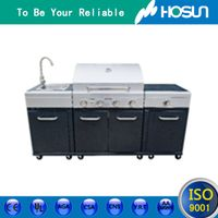 HoSun facory supply Outdoor stainless steel multi fuctional gas bbq grill