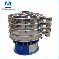 Rotary starch vibrating sieve separator for powder, rice flour sifter