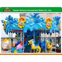 New amusement rides games kids horse ride Ocean Carousel used amusement park rides for sale thumbnail image