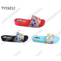 fancy charming printing upper ladies casual beach walking slide sandals