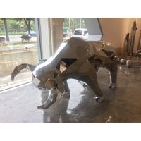 Animal Statue Garden Bull Metal Sculpture