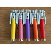 wholesale Promotional gifts handheld selfie stick with cable for mobile phone