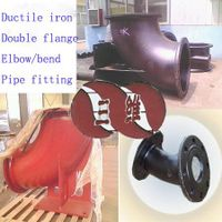 Double Flange Elbow Bend Pipe Fitting