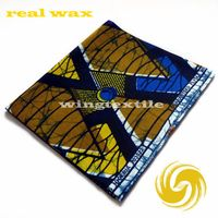 Quality 100% cotton african fabric real wax african wax