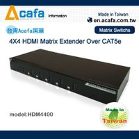 4x4 HDMI 1080P Matrix switch+over IP extender-Taiwan