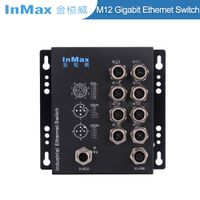 EN50155 M508B X-code 1000M 8 Port M12 Railway Gigabit Industrial Ethernet Switch